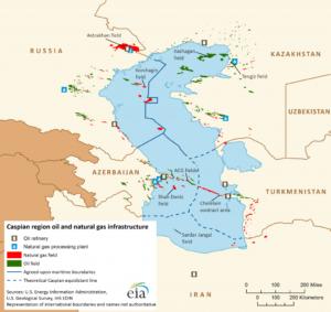 سهم ایران از دریای خزر