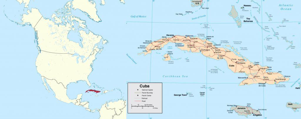 نقشه کوبا