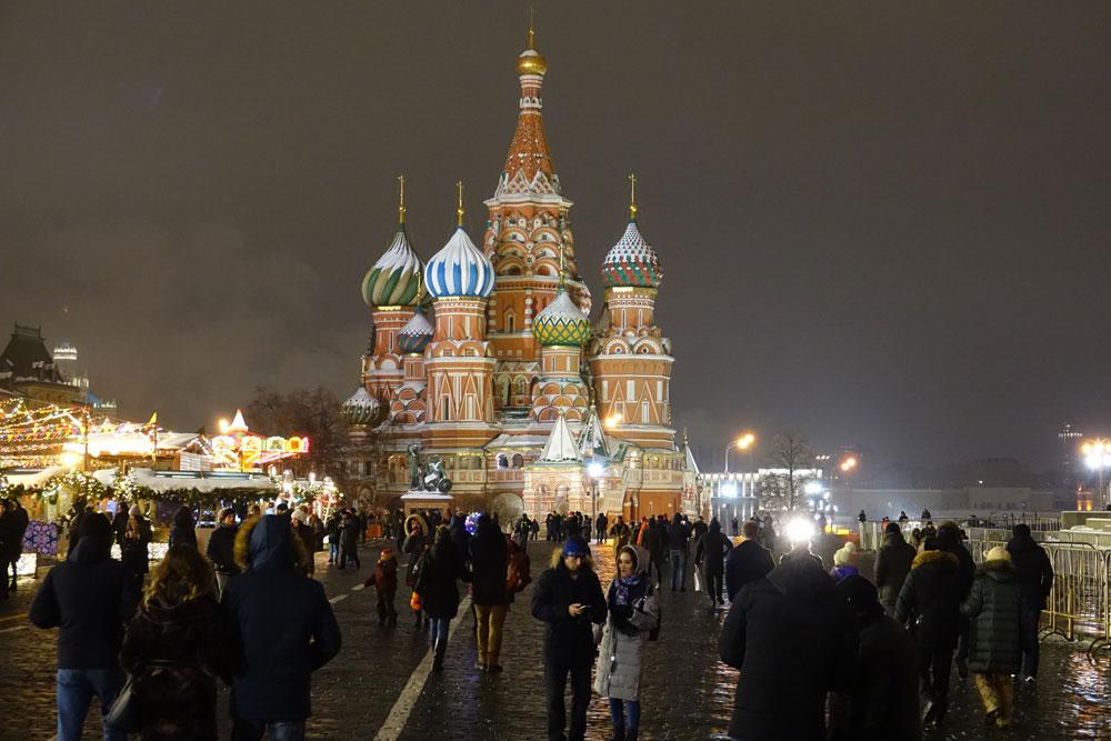 میدان سرخ مسکو در زمستان