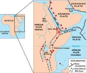 دره کافت بزرگ در آفریقا