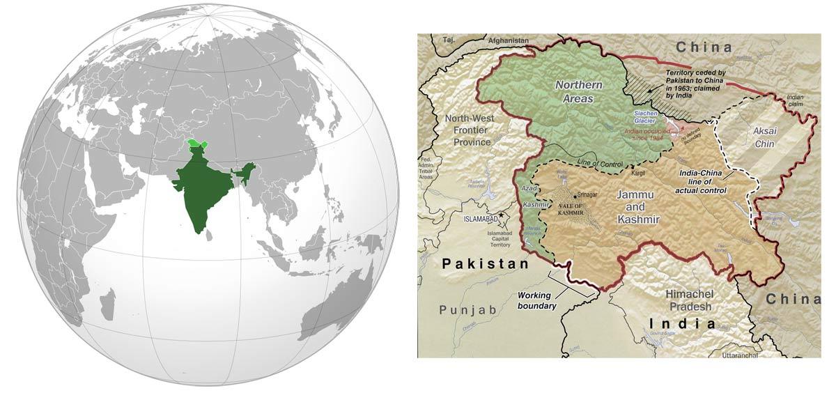 نقشه کشمیر