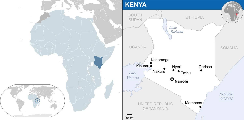 نقشه کنیا
