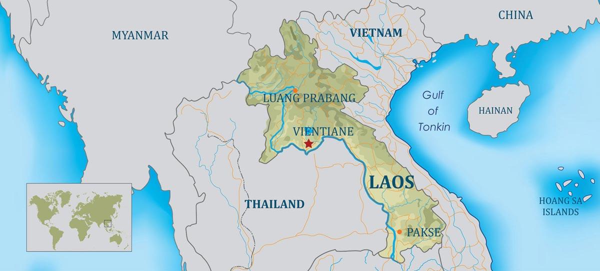 نقشه لائوس