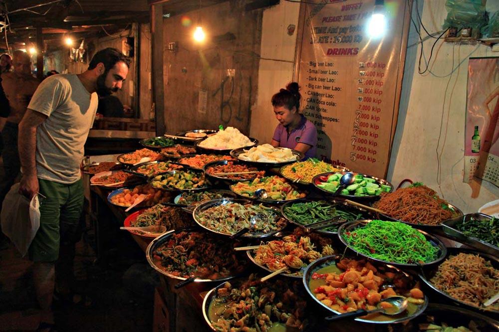 غذاهای خیابانی لائوس
