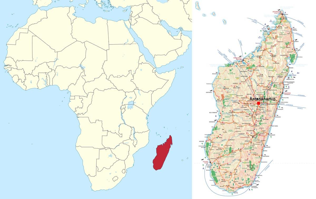 نقشه ماداگاسکار