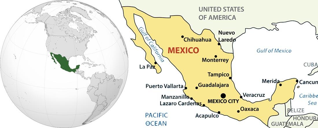 نقشه مکزیک