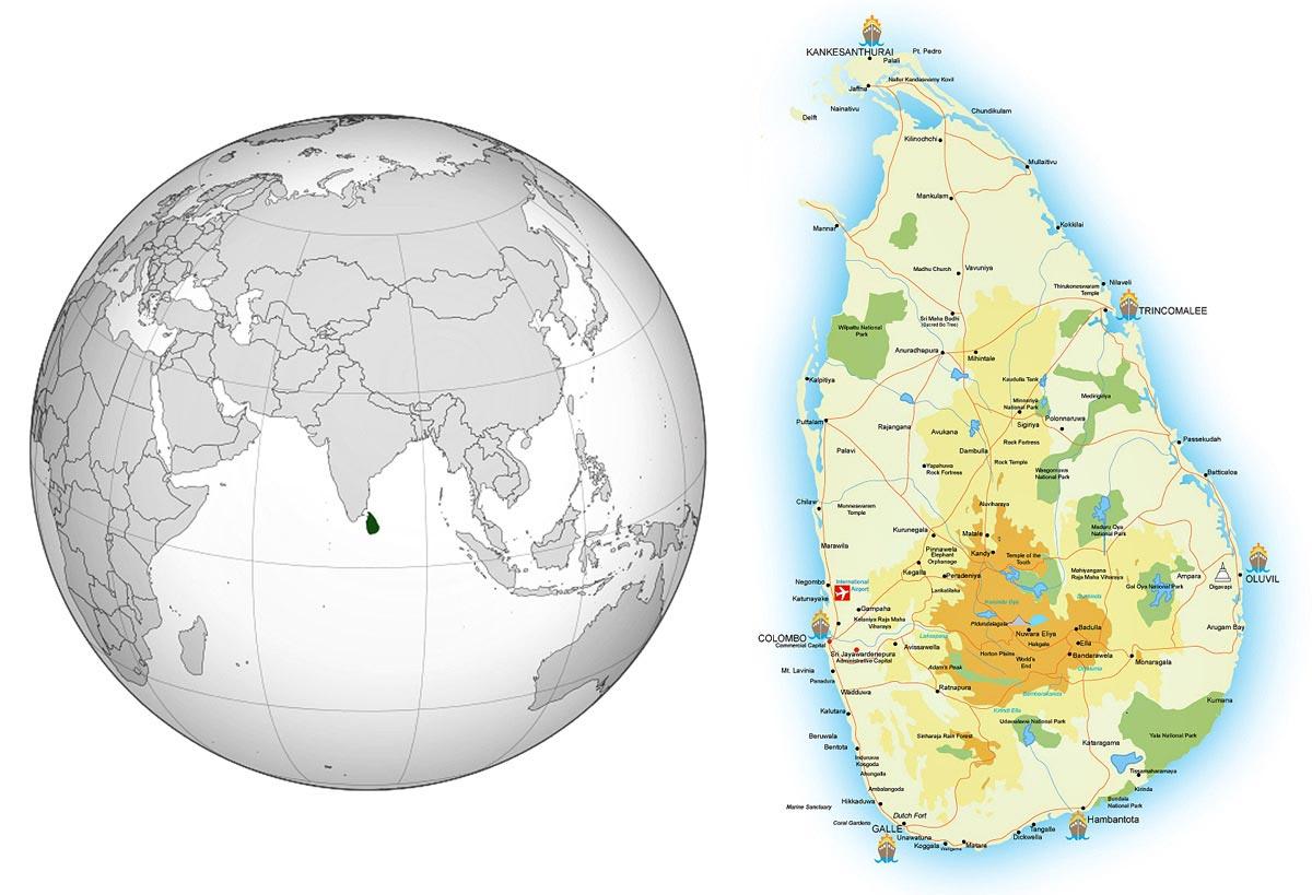 نقشه سریلانکا