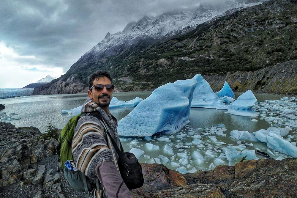 تکه های یخ یخچال های قطبی